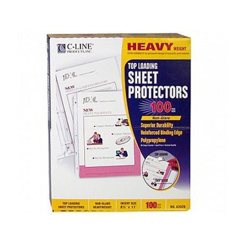C-Line Non-glare Heavyweight Poly Sheet Protectors 100pk (CLI-62028)