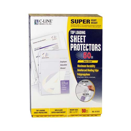 C-Line Non-glare Poly Top Loading Sheet Protectors 50pk (CLI-61008)