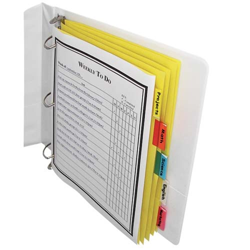 C-Line Paper 5-Tab Index Dividers with Assorted Color Tabs 5pk (CLI-05350) Image 1