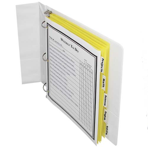 C-Line Paper 5-Tab Index Dividers with Clear Tabs 5pk (CLI-05357) Image 1