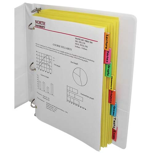 C-Line Paper Index Dividers with Assorted Color Tabs 8pk - CLI-5380 (CLI-05380) Image 1