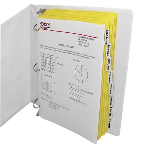 C-Line Paper 8-Tab Index Dividers with Clear Tabs 8pk (CLI-05387) Image 1