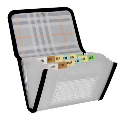 C-Line Plaid 13-Pocket Coupon Size Expanding File Organizer (CLI-58412) - $3.99 Image 1