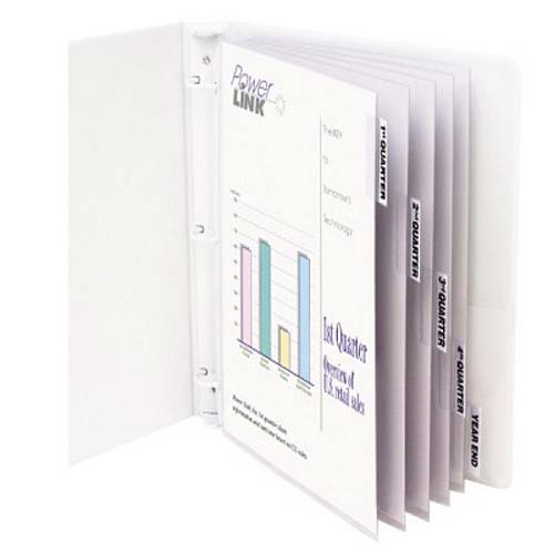 C-Line Heavyweight Poly Sheet Protectors with Clear Index Tabs 5pk - CLI-5557 (CLI-05557) Image 1