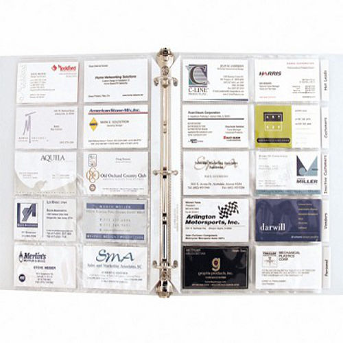 Tabbed Business Card Pages Polypropylene Sheet Protectors Image 1