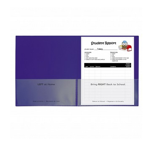 C-Line Purple Classroom Connector School-To-Home Two-Pocket Folder 25pk (CLI-32009) Image 1