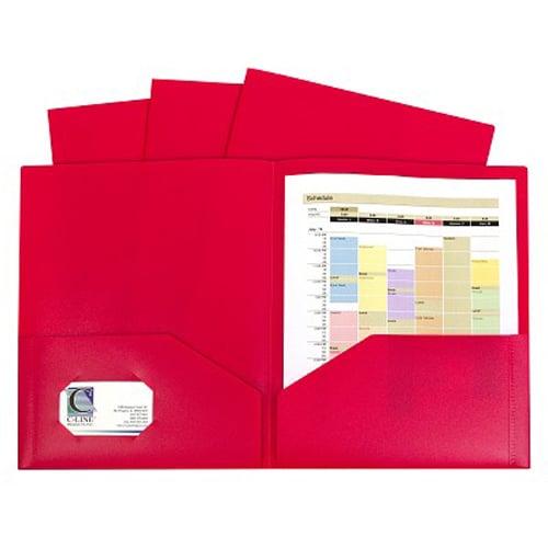 C-Line Red Two-Pocket Heavyweight Poly Portfolio 10pk (CLI-32954) - $7.18 Image 1