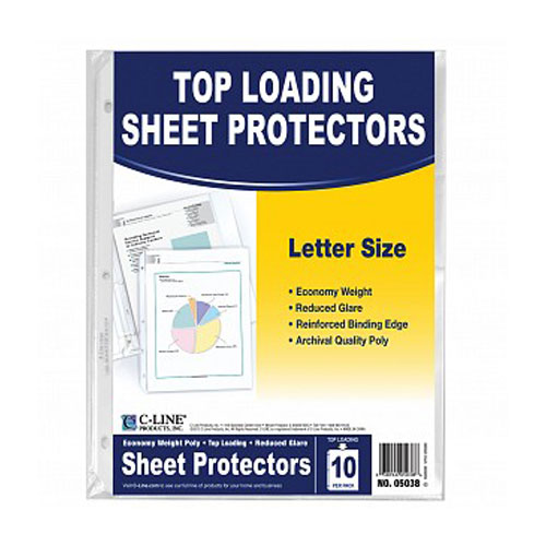 C-Line Reduced Glare Economy Weight Top Load Sheet Protectors (CLI-RGETLSP) - $0.65 Image 1