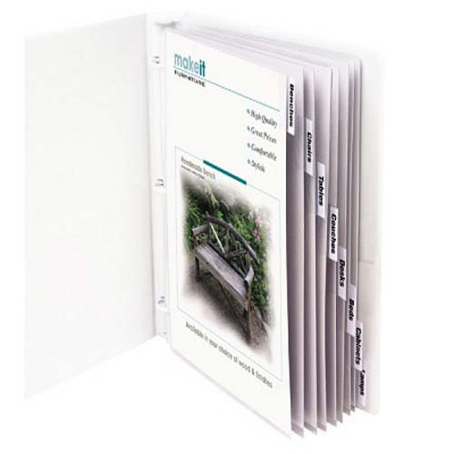 C-Line Sheet Protectors with Clear Index Tabs 8pk - CLI-5587 (CLI-05587) Image 1