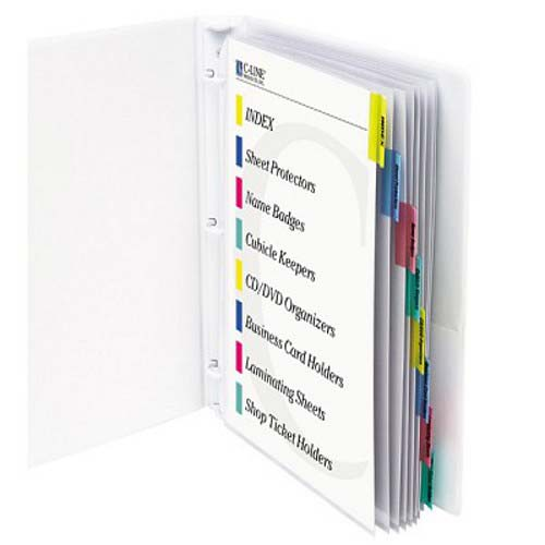C-Line Sheet Protectors with Colored Index Tabs 8pk - CLI-5580 (CLI-05580) Image 1