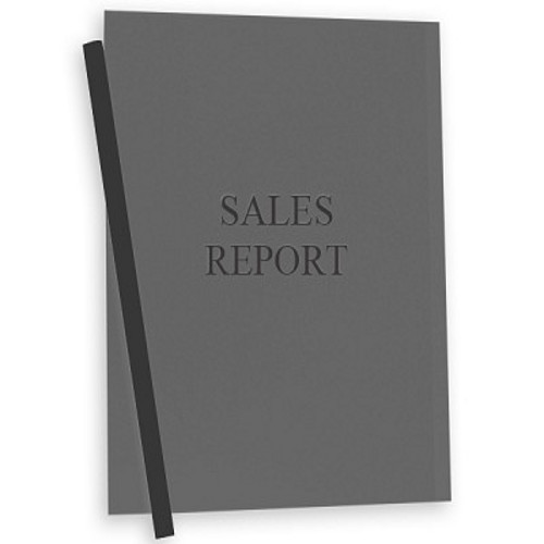 C-Line Smoke Vinyl Report Covers with Binding Bars 50pk (CLI-32551) Image 1