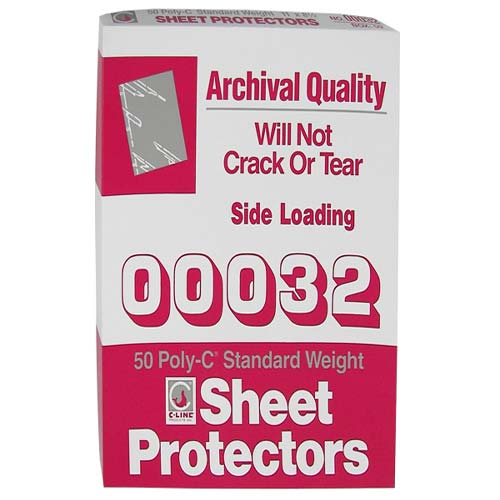 C-Line Standard Letter Size Traditional Poly Sheet Protectors 50pk - CLI-32 (CLI-00032) Image 1
