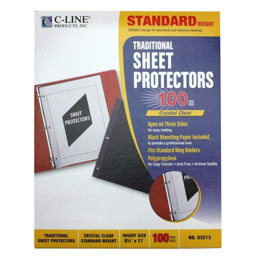 C-Line Standard Sheet Protectors Open on Three Sides 100pk - CLI-3213 (CLI-03213) Image 1