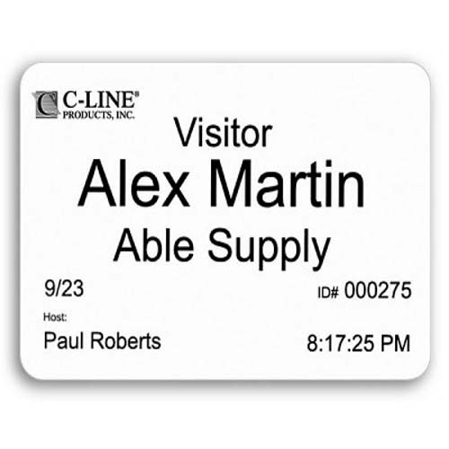 C-Line Thermal Name Badges for Direct Thermal Printers 400pk (CLI-92723) Image 1