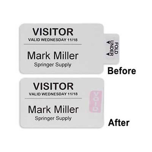 C-Line Times Up! Self-Expiring Security Badges for Direct Thermal Printers (CLI-97017) Image 1