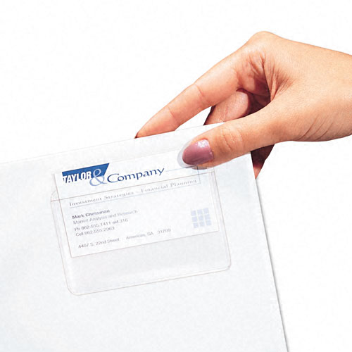C-Line Top Load Self-Adhesive Business Card Holders 10pk (CLI-70257) Image 1