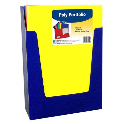 C-Line Two-Pocket Heavyweight Poly Primary Colors Portfolio 36pk (CLI-33950) Image 1