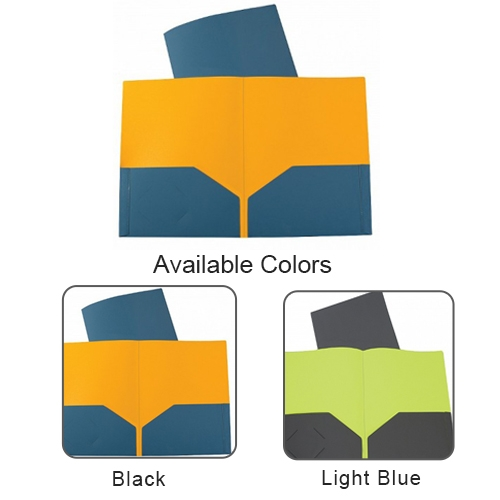 C-Line Two-Tone Two-Pocket Super Heavyweight Poly Portfolio (CLTTTPSHPP) - $1.59 Image 1