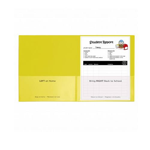 C-Line Yellow Classroom Connector School-To-Home Two-Pocket Folder 25pk (CLI-32006) Image 1