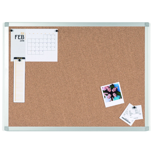 MasterVision Ayda Cork Bulletin Boards with Aluminum Frame (MV-AYDA-CB) Image 1