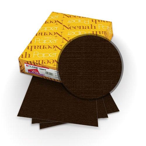 Neenah Paper Canyon Brown 80lb A4 Size Classic Linen Cover - 25pk (MYCLINA4CYB) Image 1