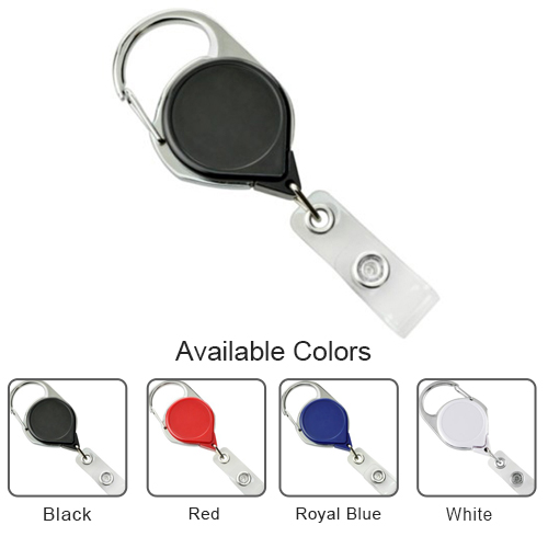 Carabiner Badge Reel with Strap and NPS Belt Clip - 25pk (MY-704-CLP) Image 1