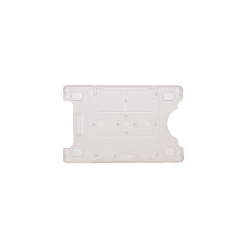 Card Retainer w/ Slot and Chain Holes - Vertical or Horizontal - 50pk (MYBP816NCLR), MyBinding brand Image 1