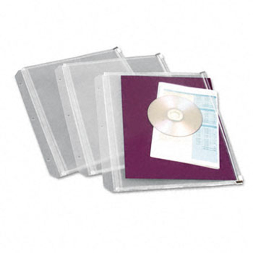 "Cardinal 1/2"" Clear Expanding Zipper Binder Pocket 8pk (CRD-14201)"