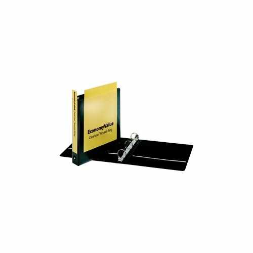 "Cardinal 1.5"" Black EconomyValue ClearVue Round Ring Binder 12pk (CRD-90040) Image 1"
