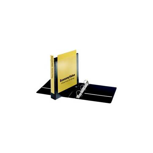 "Cardinal 1.5"" Black EconomyValue ClearVue Slant-D Ring Binder 12pk (CRD-90110)"