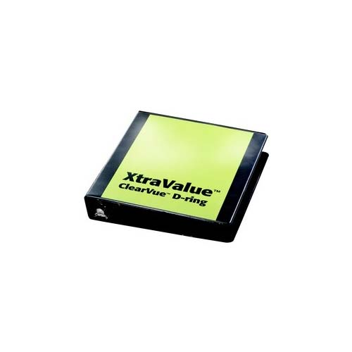 Black Xtravalue Clearvue Binder