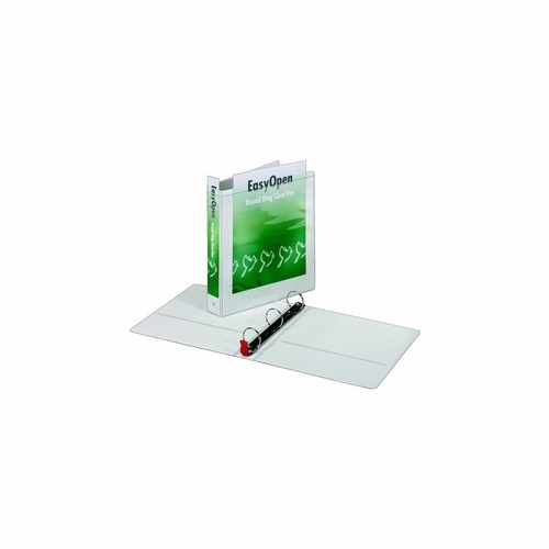 "Cardinal 1.5"" White EasyOpen ClearVue Locking Round Ring Binder 12pk - CB (CRD-11110) Image 1"