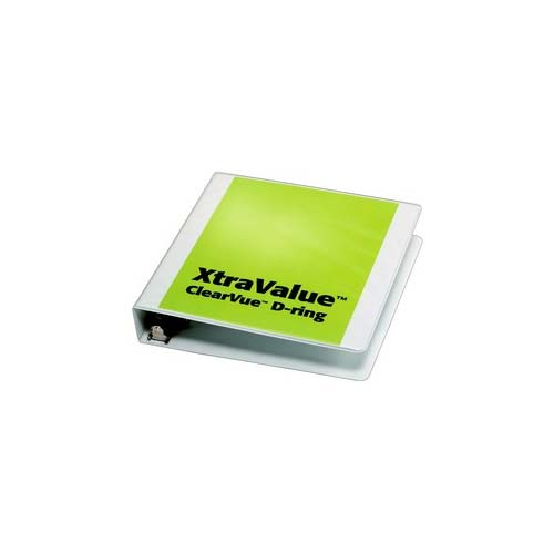 White Xtravalue Clearvue Binder