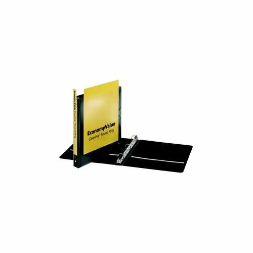 "Cardinal 1"" Black EconomyValue ClearVue Round Ring Binder 12pk (CRD-90023) Image 1"