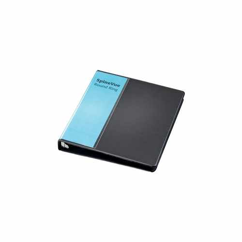 "Cardinal 1"" Black SpineVue Locking Round Ring Binder 12pk - V3 (CRD-16301) Image 1"