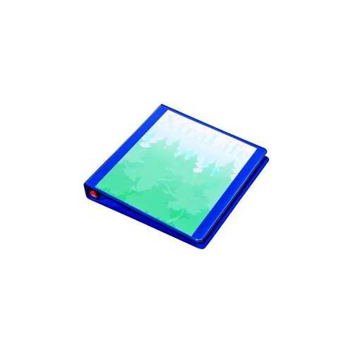 "Cardinal 1"" Blue XtraLife ClearVue Locking Slant-D Ring Binder 12pk (CRD-26302) Image 1"
