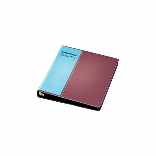 "Cardinal 1"" Maroon SpineVue Locking Round Ring Binder 12pk - V3 (CRD-16358) Image 1"