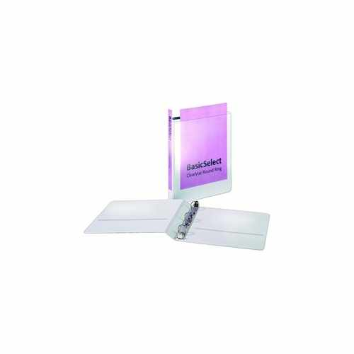 "Cardinal 1"" White BasicSelect ClearVue Round Ring Binder 12pk (CRD-67224) Image 1"