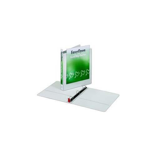 "Cardinal 1"" White EasyOpen ClearVue Locking Round Ring Binder 12pk (CRD-11100) Image 1"