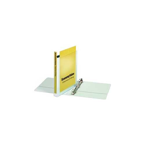 "Cardinal 1"" White EconomyValue Slant-D Binder Without Packaging 12pk (CRD-90741) Image 1"