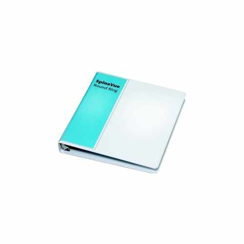 "Cardinal 1"" White SpineVue Locking Round Ring Binder 12pk - V3 (CRD-16303) Image 1"