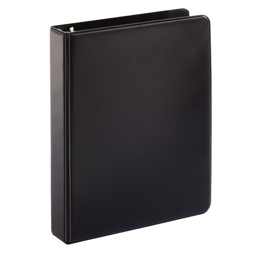 "Cardinal 1"" Black 5.5"" x 8.5"" Mini Round Ring Binder 12pk - CRD-7201 (CRD-07201) Image 1"