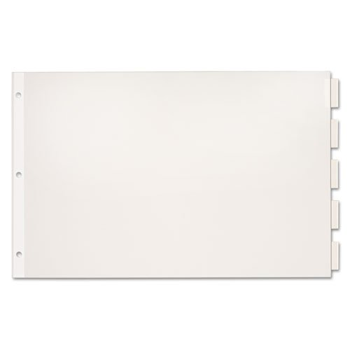White Paper Dividers with Tabs Image 1