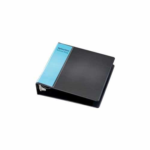 "Cardinal 2"" Black SpineVue Locking Round Ring Binder 12pk - V3 (CRD-16801) Image 1"