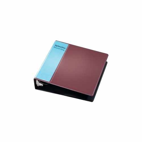 "Cardinal 2"" Maroon SpineVue Locking Round Ring Binder 12pk - V3 (CRD-16858) Image 1"