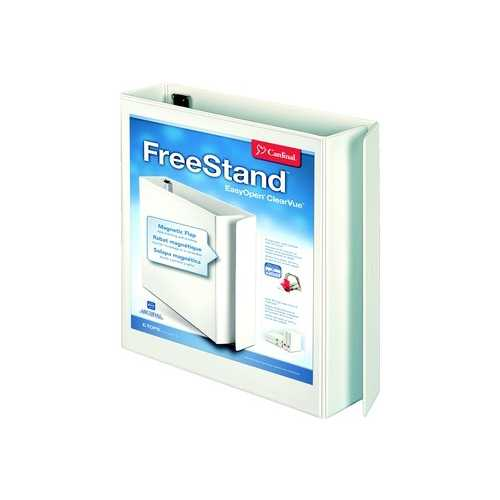 "Cardinal 2"" White EasyOpen FreeStand Locking Slant-D Ring Binder 6pk (CRD-43120) Image 1"
