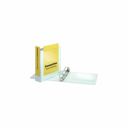 "Cardinal 2"" White EconomyValue Ring Binder Without Packaging 12pk (CRD-90641) Image 1"