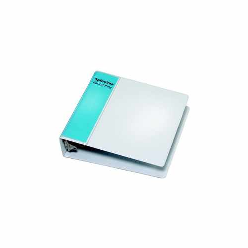 "Cardinal 2"" White SpineVue Locking Round Ring Binder 12pk - V3 (CRD-16803) Image 1"