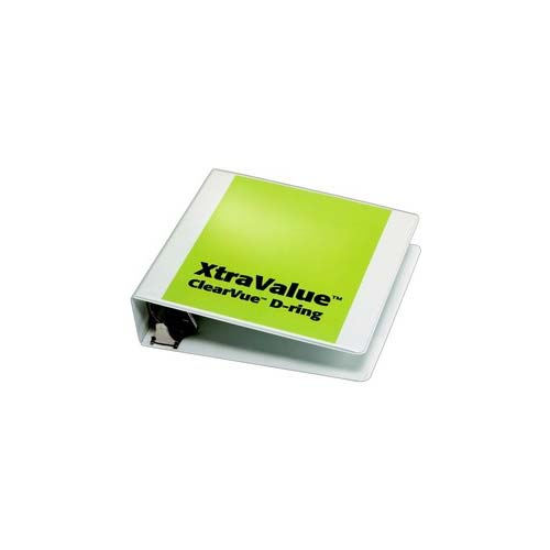White Xtravalue Clearvue Binder Image 1