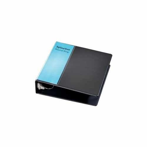 "Cardinal 3"" Black SpineVue Locking Round Ring Binder 6pk - V3 (CRD-16901) Image 1"